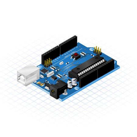 Isométriques simples microcontrôleurs Conseil Banque d'images - 33954572