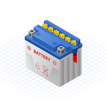 Natte Accumulator Vector Illustratie