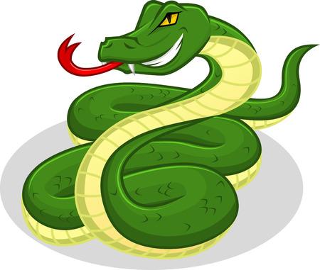 sonaja: De alta calidad de la serpiente Vector ilustración de dibujos animados