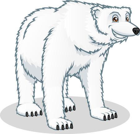 antarctic: High Quality Polar Bear Vector Cartoon Illustration