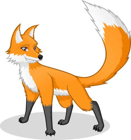 Alta calidad Fox Vector ilustración de dibujos animados Foto de archivo - 37563389