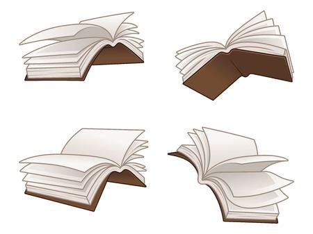 Flying books vector illustration design, isolated on white background, vector clip art illustration.