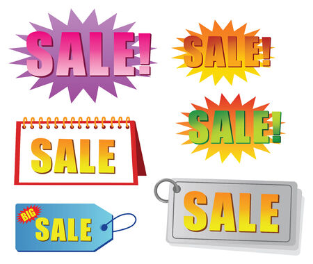 vector sale tag and label