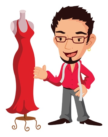 fashion designer Vector