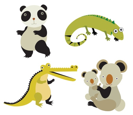 animals vector set Stock Vector - 18246331