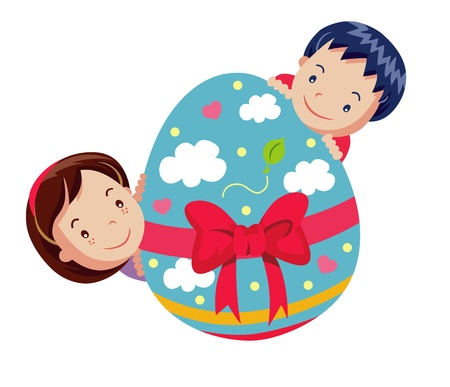 Cartoon easter illustration Stock Vector - 18543005