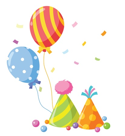 party balloons vector illustration Illustration