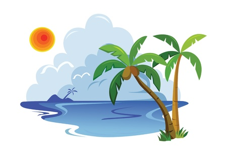 tropical landscape. vector illustration Illustration