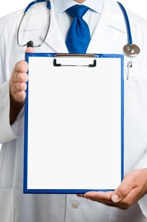 portapapeles: Doctor Mostrar Portapapeles en blanco para escribir sobre tu mensaje personal o el asesoramiento
