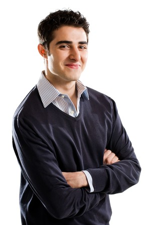 Portrait of young confident man looking at camera photo