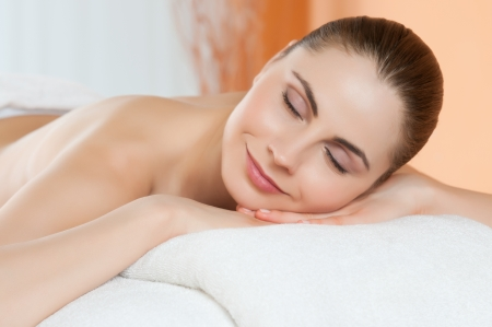 Beautiful young woman relaxing at spa Stock Photo - 14272875