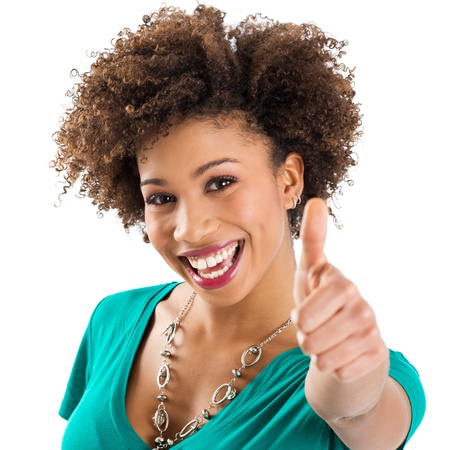 Happy Young Smiling African Woman isolated  Stock Photo