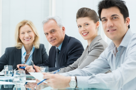 boardroom: Business People In Conference Room
