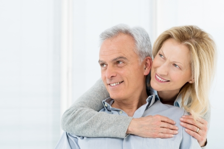 Portrait Of Happy Senior Couple Smiling Stock Photo - 19500075