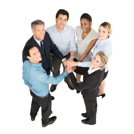 african solidarity: Group Of Multi Ethnic Businesspeople With Stacked Hands
