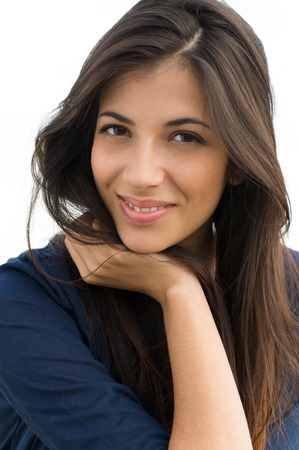 Closeup Of Happy Young Woman Smiling photo