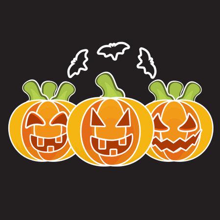 halloween pumpkin collection in flat design
