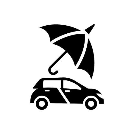 Car Protection - auto insurance icon vector black