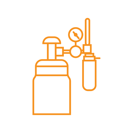 Medical devices - line art vector orange