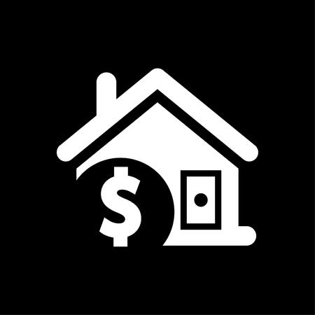 House price icon vector white