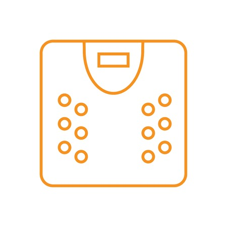 Scale icon - Outline illustration of a scale vector icon for the web - orange Illustration
