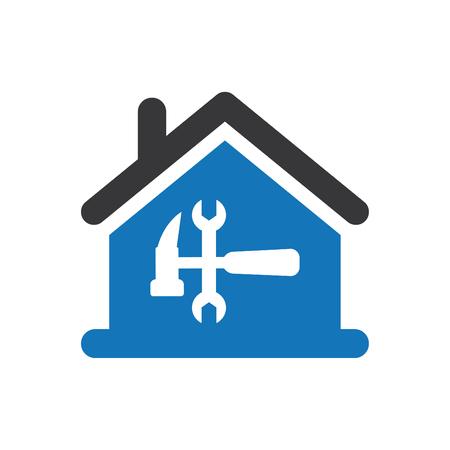 Home repair Icon vector blue