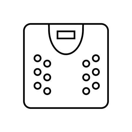 Scale icon - Outline illustration of a scale vector icon for the web - black Illustration