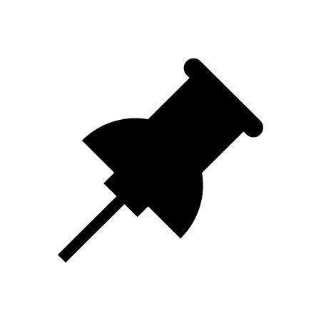 Pin icon vector black