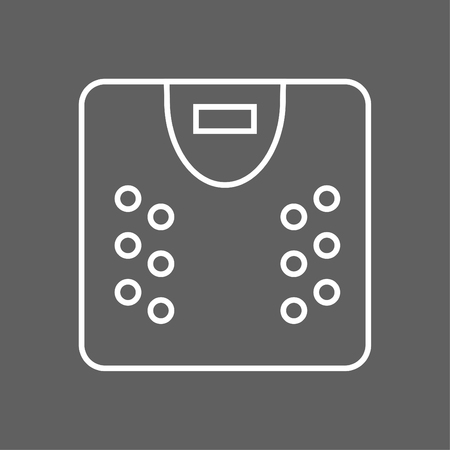 Scale icon - Outline illustration of a scale vector icon for the web - white