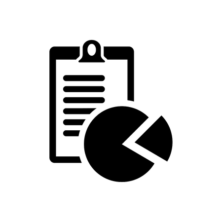 Business report icon vector black