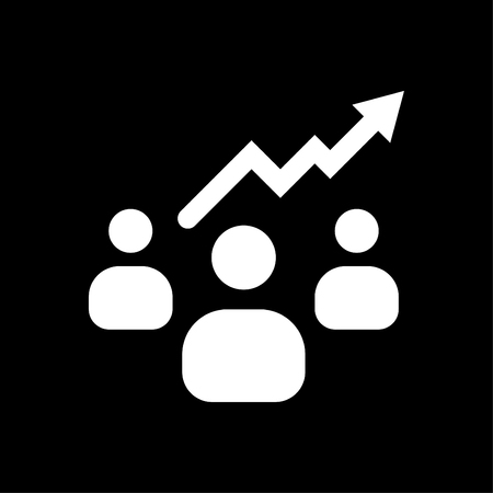 Business people growth icon white