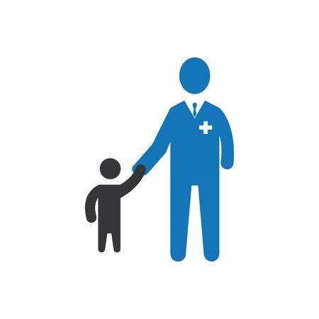 Child Care Icon Blue Illustration