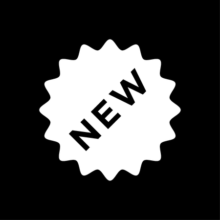 New sign icon - New arrival button symbol vector white