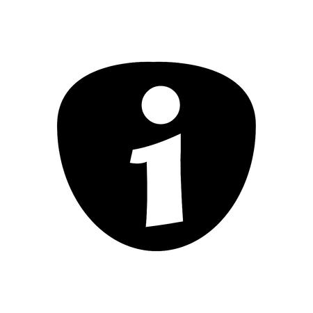 Information Icon Symbol Black - on White Background 版權商用圖片 - 110118220