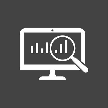 Business Growth Analysis Icon White