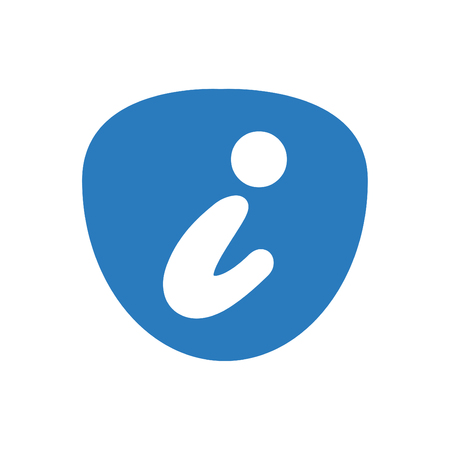 Information icon template vector blue 向量圖像