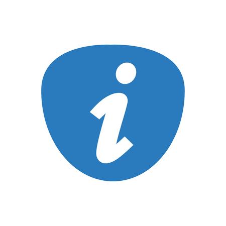 Simple info icon vector blue 版權商用圖片 - 110118280