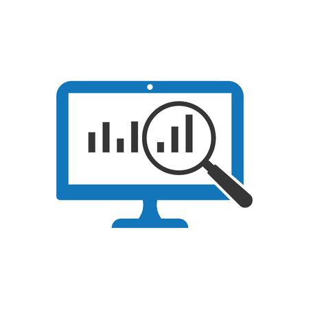 Business Growth Analysis Icon Blue