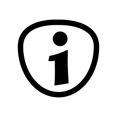Information Icon Symbol Linear Style - on White Background