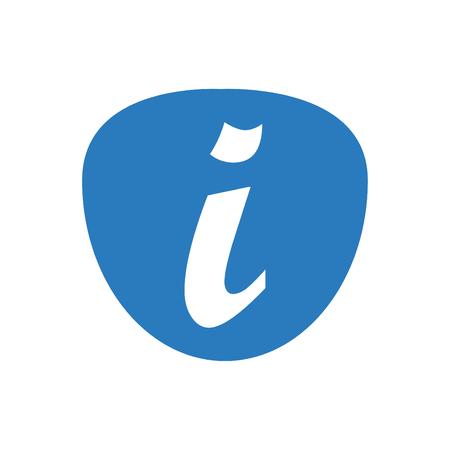 Information icon vector blue