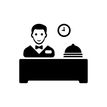 Hotel reception vector black 向量圖像