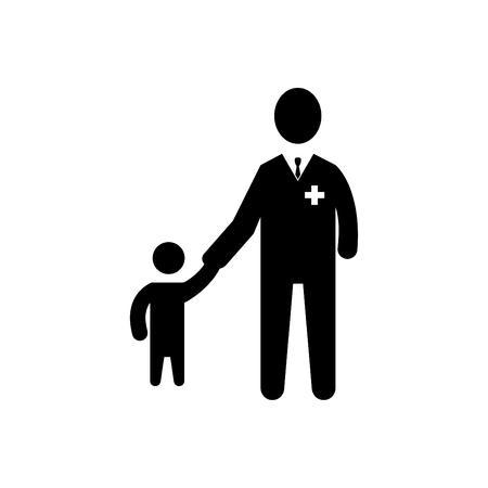 Child Care Icon Black