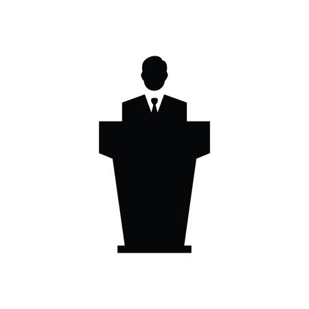 Business Speaker Icon Black Ilustração