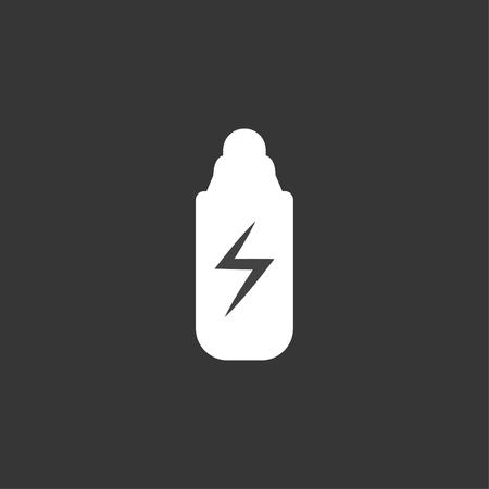 Energy Drink Bottle White