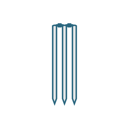 Cricket wicket icon - linear style vector