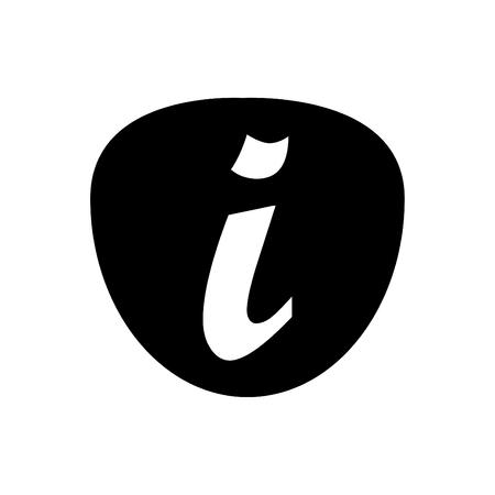 Information icon vector black 向量圖像