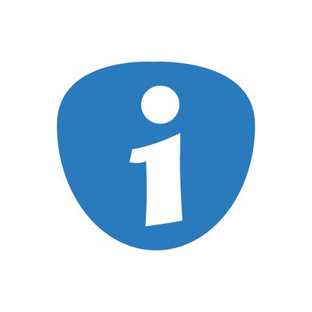 Information Icon Symbol Blue - on White Background