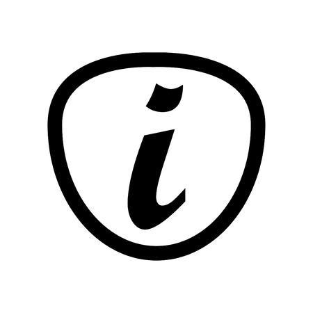Information icon line art vector black