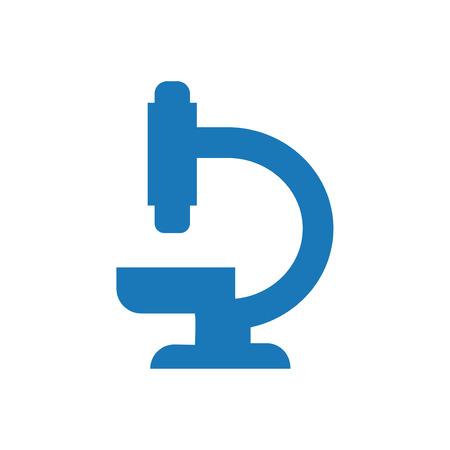 Microscope Icon Blue