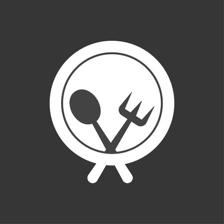 Food Dish Icon White